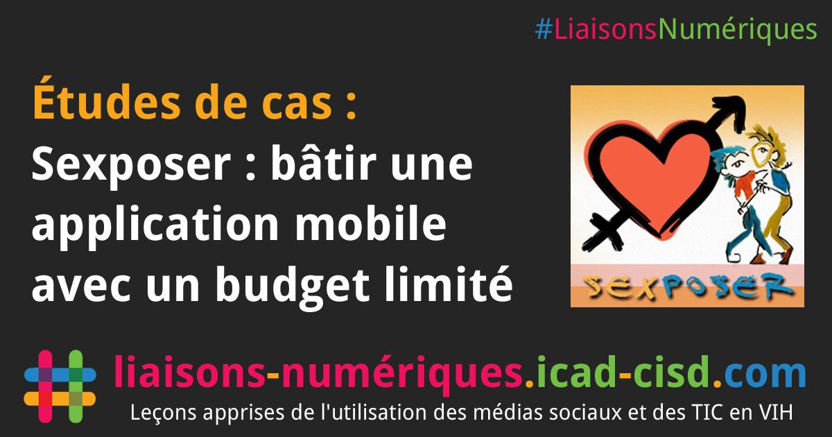 Graphique Facebook : Sexposer : bâtir une application mobile avec un budget limité