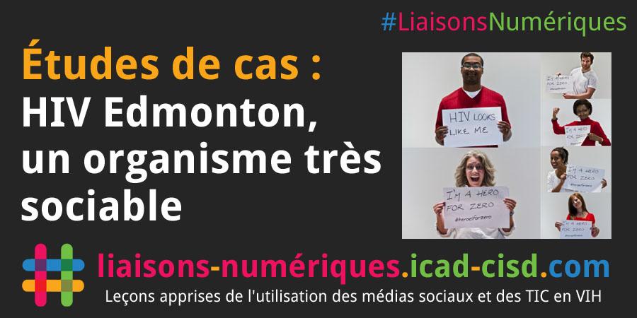 Graphique Twitter : HIV Edmonton, un organisme très sociable