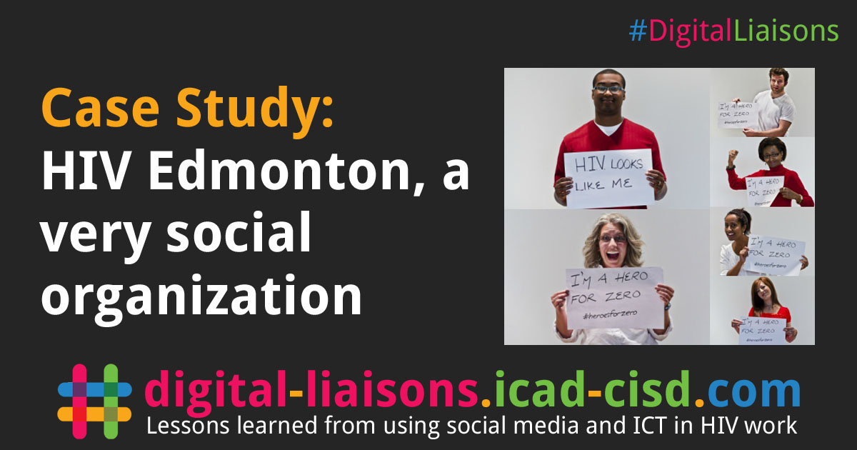 Facebook Graphic: HIV Edmonton, a very social organization