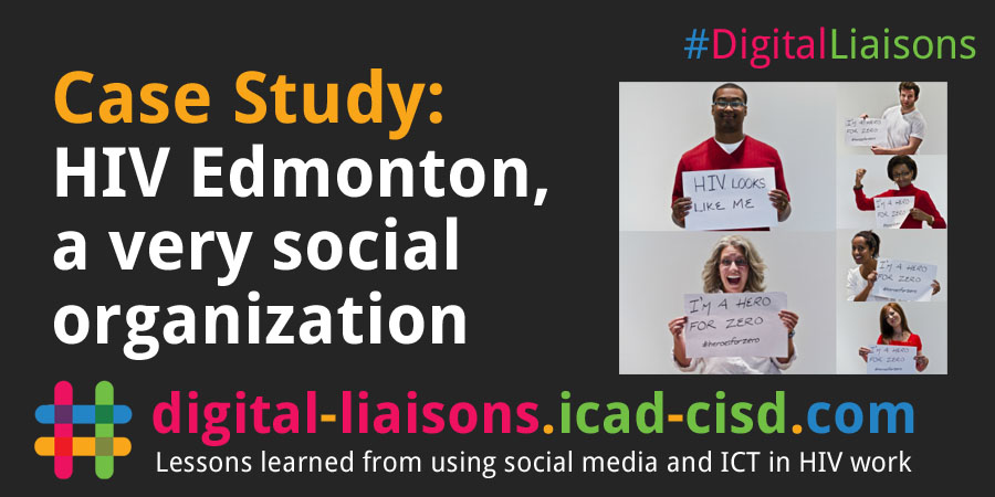 Twitter Graphic: HIV Edmonton, a very social organization